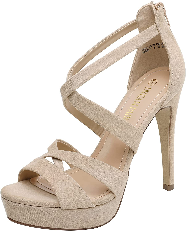 DREAM PAIRS Women's High Heel Platform Sandals shipfree Pump Dress Recommended