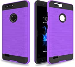 AYOO for:ZTE Blade Zmax Pro 2 Case,ZTE Blade Z Max Case,ZTE Sequoia Case,ZTE Z982 Case, [Drop Protection] Brushed Texture Full-Body Shockproof Protective Cover Design for ZTE Z982-ZS Purple