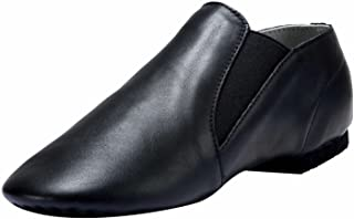 Dynadans Jazz Shoe Leather Slip On with Elastics (Big Kid/Little Kid/Toddler)