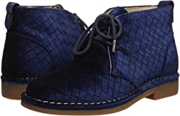 Navy Basket Velvet