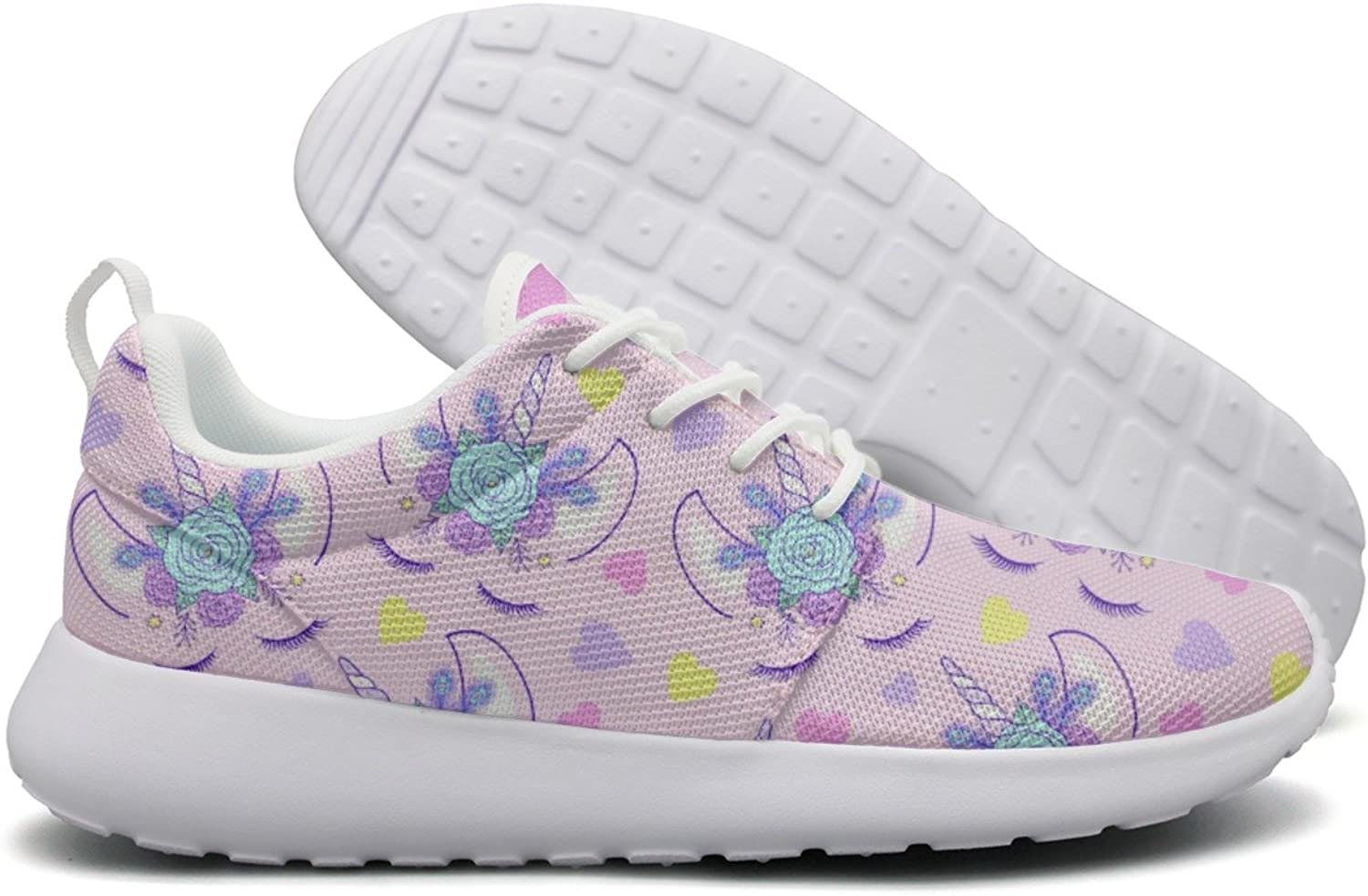 ERSER Purple Mom Nana Unicorn Head Flowers Breathable Running shoes Women