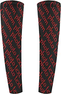 Custom Personalized Compression Arm Sleeves for Men Women/Students for Elbow