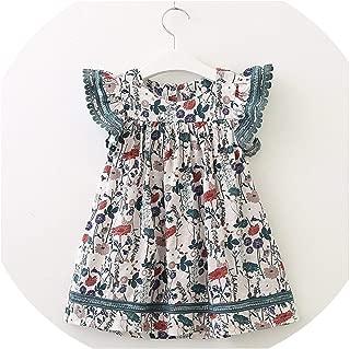 Girls Dresses Sweet High Waist Dress Girl Floral Decoration Kids Dresses