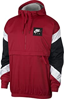 Air Hooded Woven Anorak Hooded Jacket 932137 687 Gym Red/White Size XL