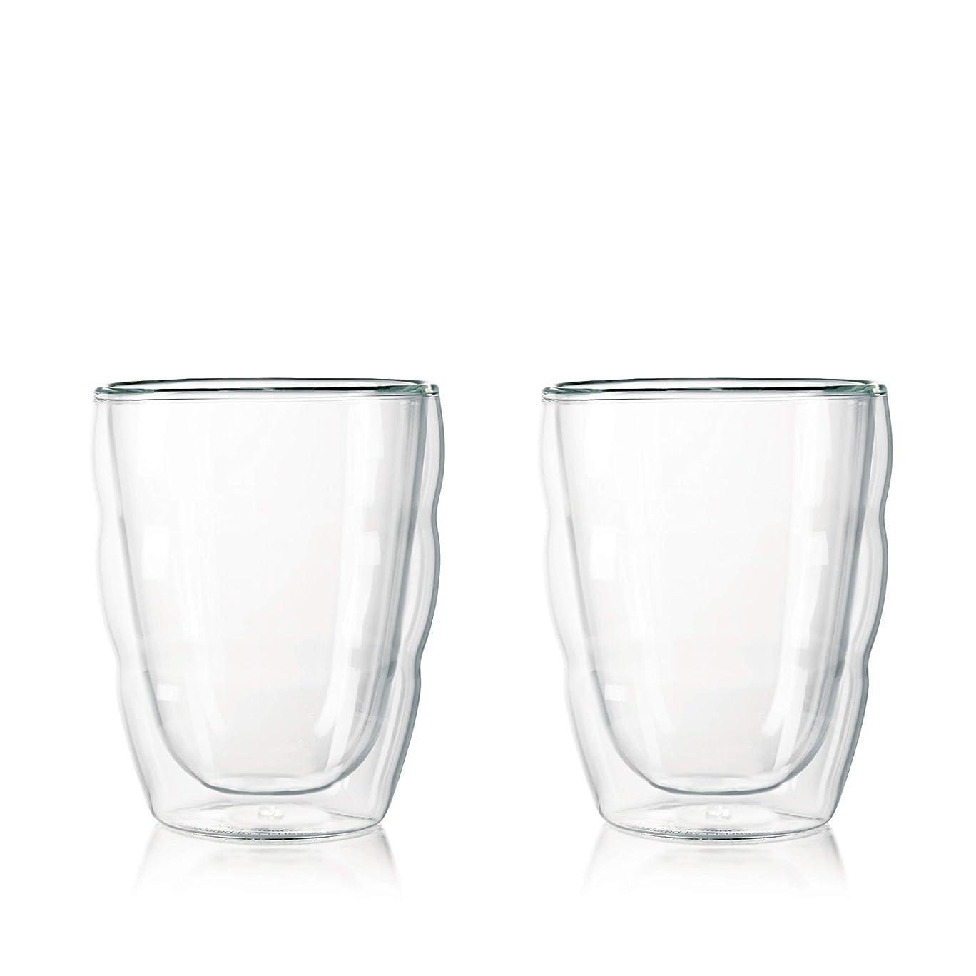 移民ミルク乗って【正規品】 BODUM ボダム PILATUS ダブルウォールグラス 250ml (2個セット) 10484-10