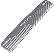 Fendrihan Sturdy Metal Double Tooth Barber Grooming Comb (6.6 Inches)