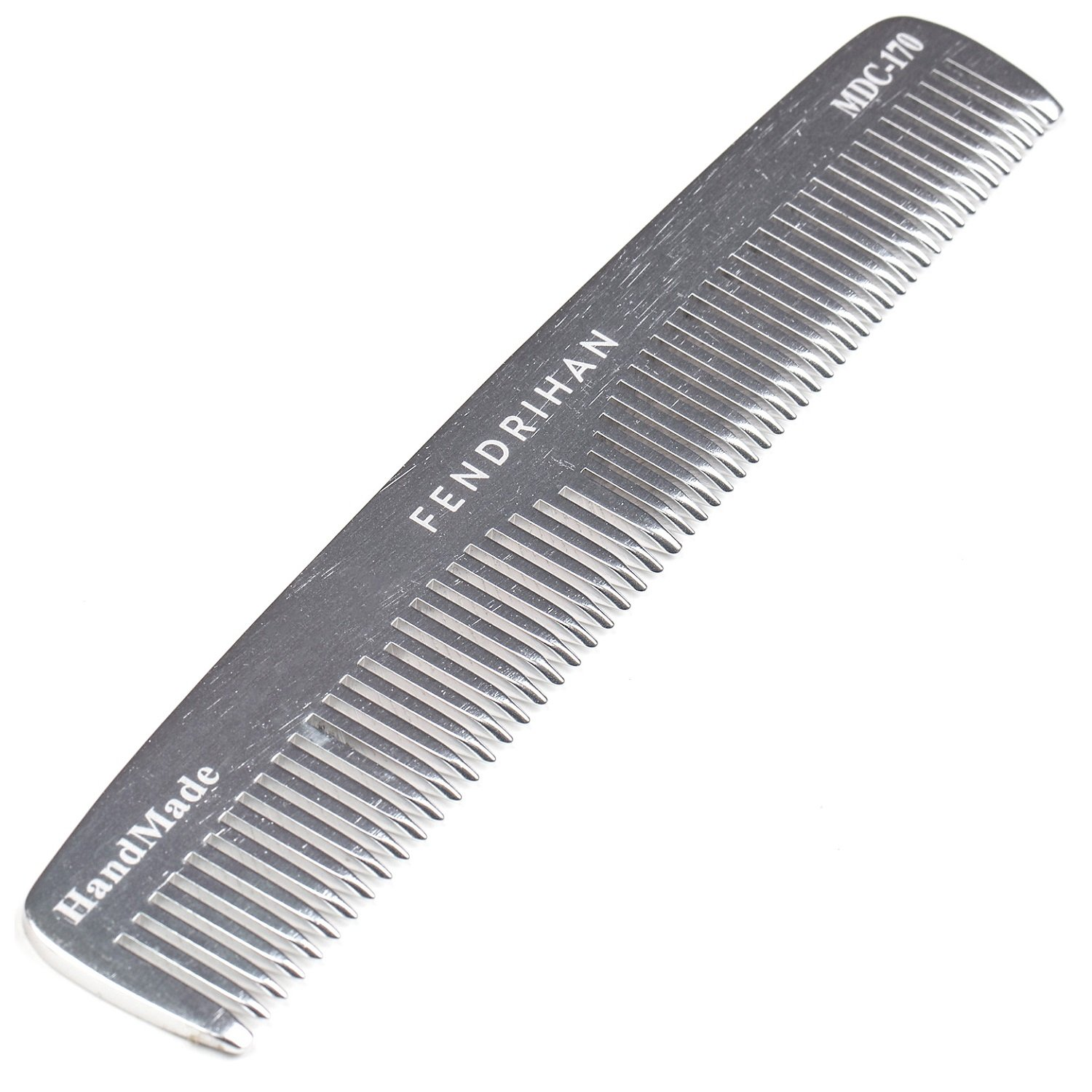 Fendrihan Sturdy Metal Double Tooth 2021 model Comb Challenge the lowest price In 6.6 Barber Grooming