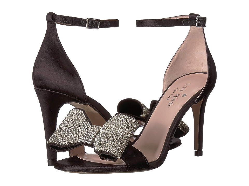 Kate Spade New York Gweneth Heeled Sandal (Black Satin) Women