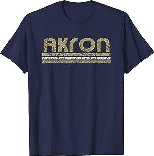 Akron Ohio Retro T Shirt Vintage Weathered Throwback