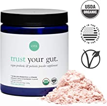 Ora Organic Probiotic and Prebiotic Powder Supplement, 20 Billion Organic Probiotics, 6 Strains - Best Vegan Prebiotic Powder, Gluten-Free, Non-GMO, Probiotics for Women, Men & Kids (Full Size)