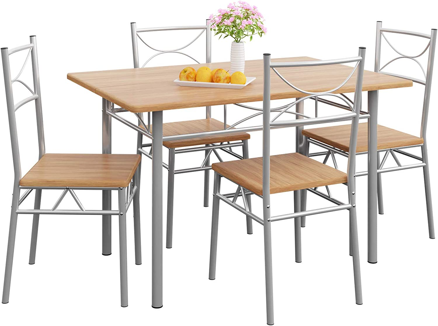 Casaria Dining Table Kitchen Table with 9 Chairs Dining Room Set Kitchen  Table Chair Set