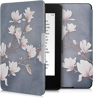 kwmobile 対応: Amazon Kindle Paperwhite ケース - 電子書籍カバー PUレザー - オートスリープ Reader 保護 モクレンデザイン