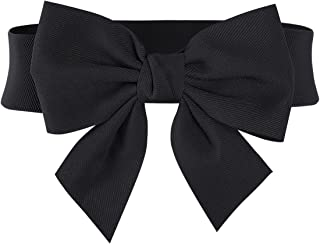 Women's Vintage Bowknot Wide Elastic Stretchy Cinch Belt