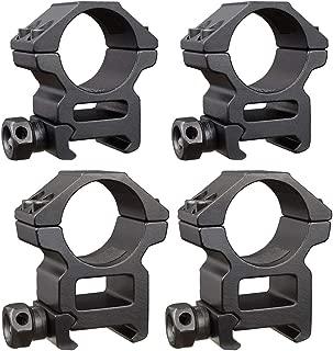 SEDFENSE 1 inch Scope Rings 2 Pack High Profile and 2 Pack Medium Profile 1 Inch Scope Mount Rings for Picatinny/Weaver Rail