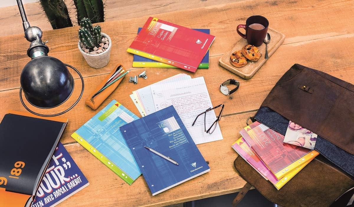 gro/ßkariert 200 Seiten Clairefontaine 5er Pack je /à 200 Blatt 17 x 22 cm