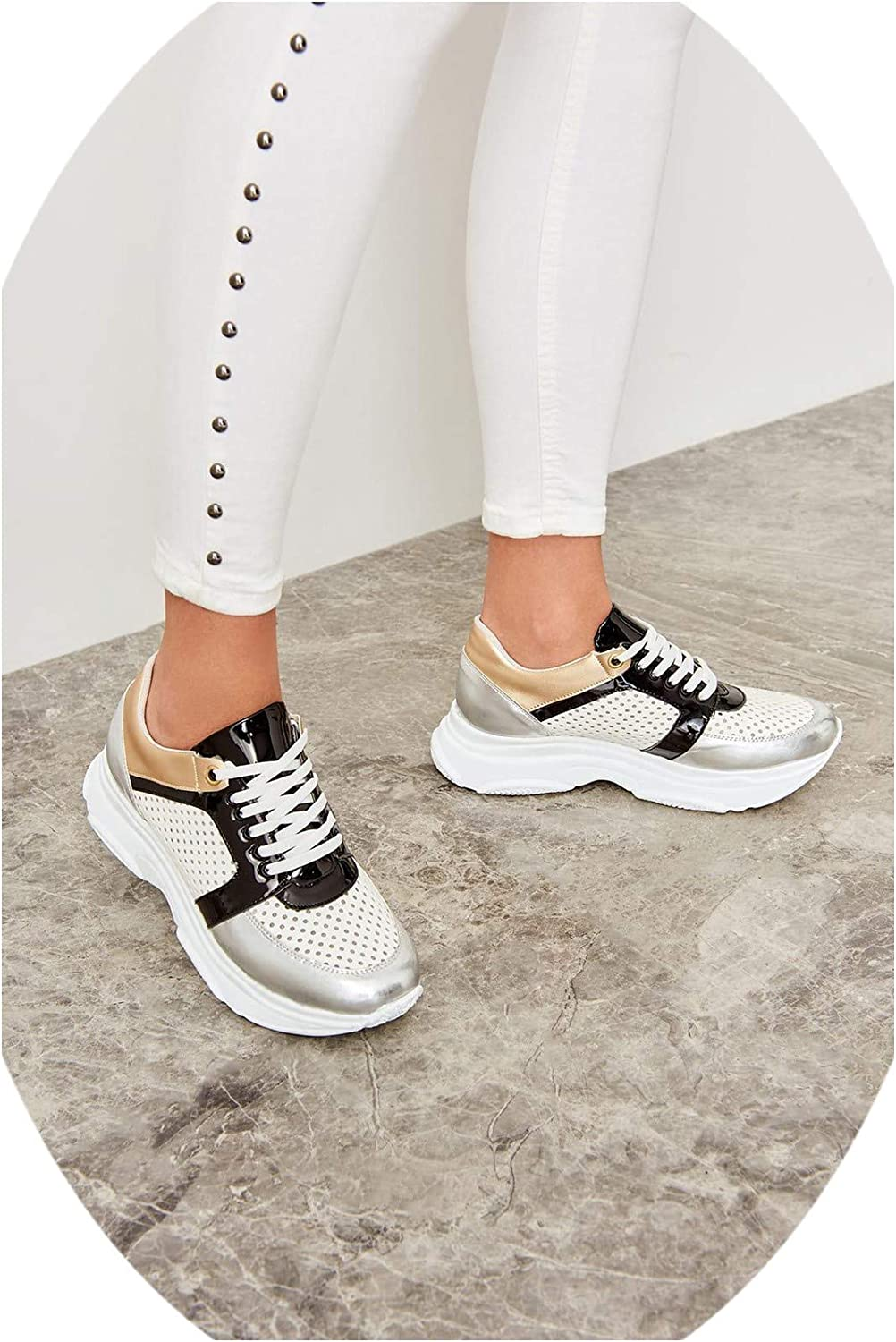 Nova's choice-fashion-sneakers Silver Metallic Women Sneaker TAKSS19GA0077