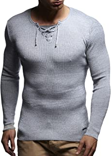 Leif Nelson Men's Pullover Knit Sweater LN-1590