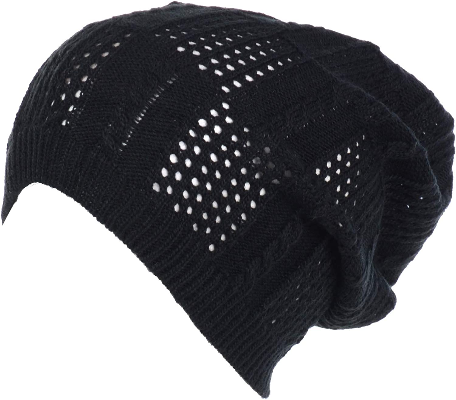 an Crochet Knit Beanie for Women Men Teens Colorful Slouchy Fashion Accessory