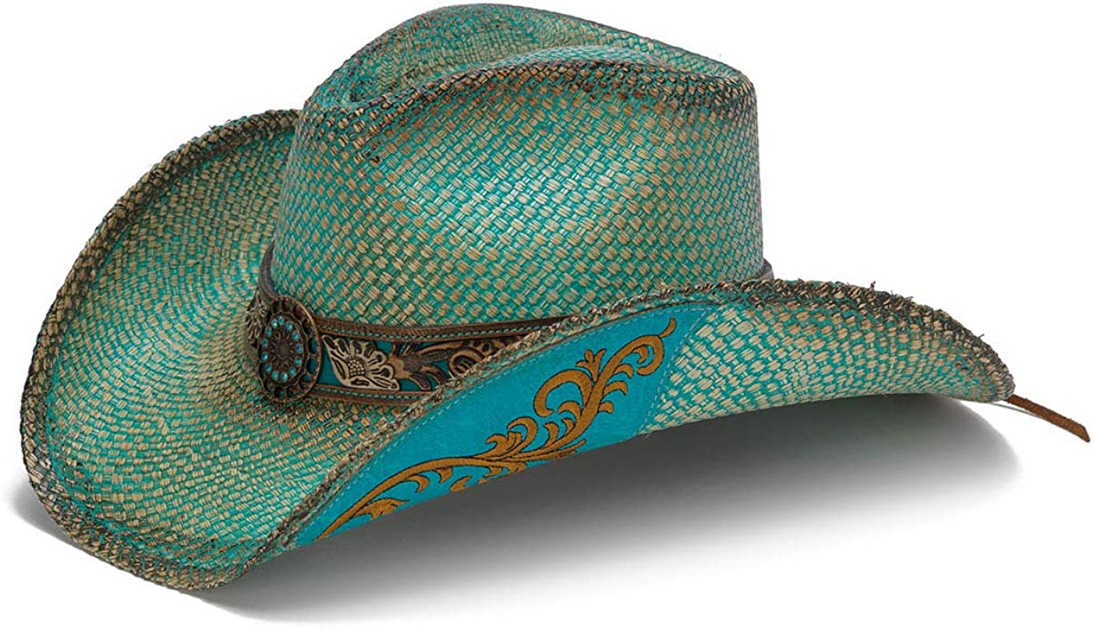 Stampede Manufacturer regenerated product Hats Women's Whistler Turquoise Hat Albuquerque Mall with Flower Western