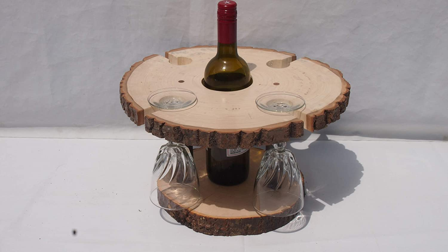 Rustic wine bottle 2021new shipping free shipping glass table decor woodland stand Regular store display