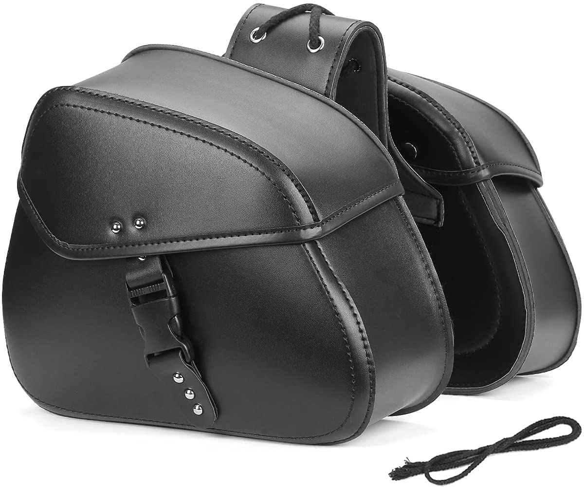 Kemimoto Saddlebags Our shop most popular Motorcycle Throw Over Sa 100% quality warranty Bags Side Leather