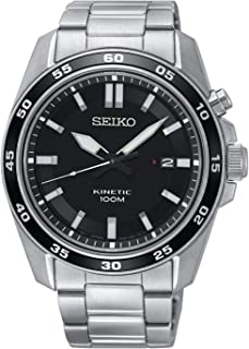 Seiko- SKA785P1 Mens Kinetic Watch With Stainless Steel Bracelet and Date Display