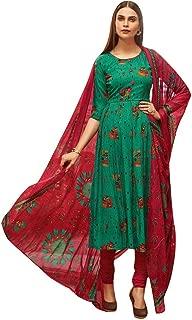 Rayon Printed Salwar Kameez Ready to Wear Womens Indian Dress Bollywood