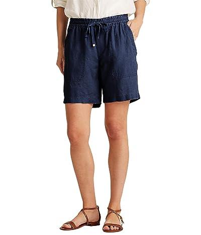 LAUREN Ralph Lauren Linen Drawcord Shorts Women