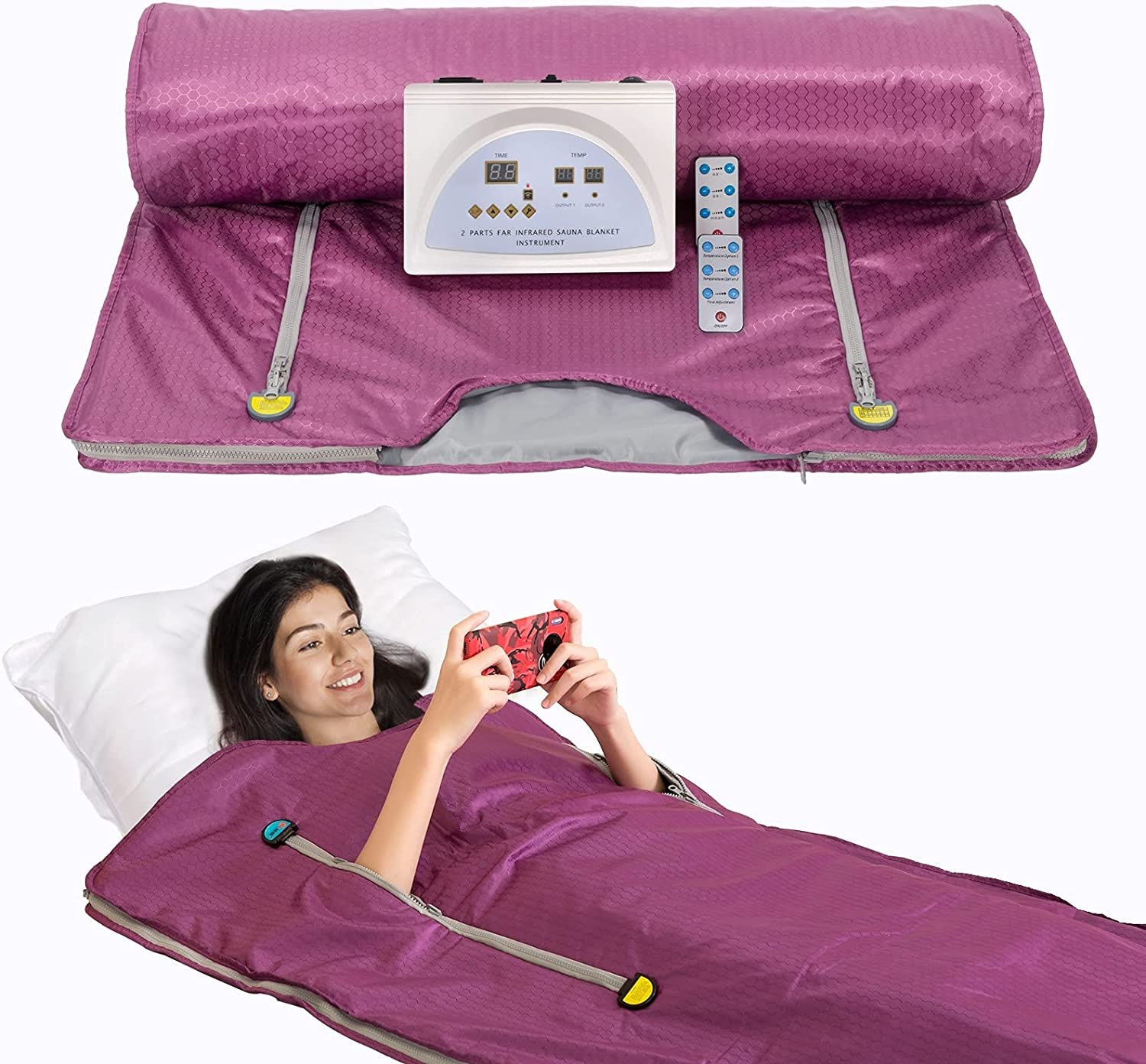 SurmountWay Far Infrared Sauna Blanket with Loss Weight for Remo Free Dealing full price reduction shipping