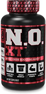 N.O. XT Nitric Oxide Supplement With Nitrosigine L Arginine & L Citrulline for Muscle Growth, Pumps, Vascularity, & Energy...