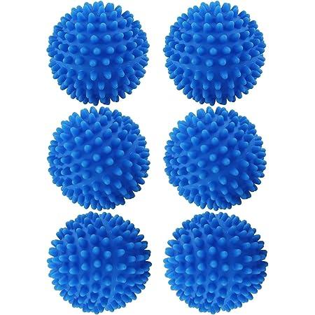 Chudian 6 Pcs Balles De SéChage, Boule De Lavage pour Machine à Laver Boule De Séchage Réutilisable Balle De Sèche-Linge Boule De Lessive