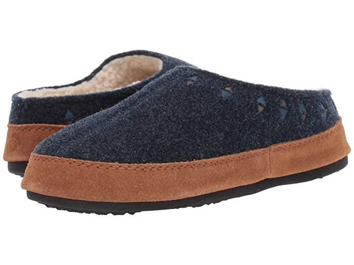 Acorn  Geo Embroidered Hoodback (Navy Blue) Womens Slippers