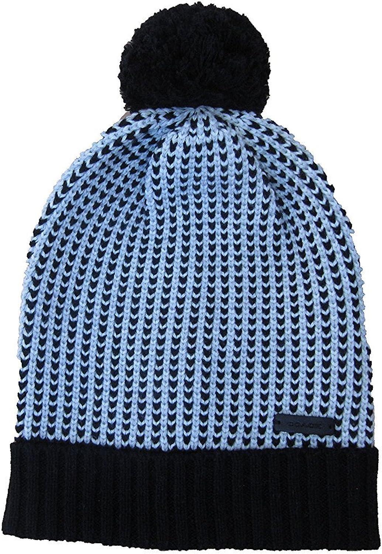 Coach Knit Hat Wool Blend Womens Black/white Onesize