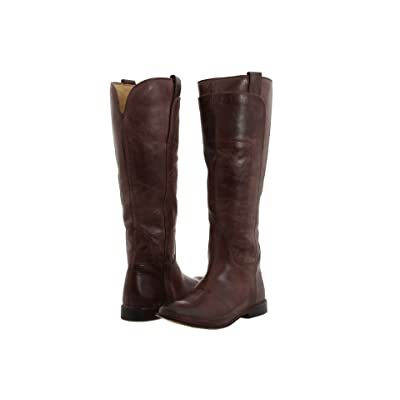 Frye Paige Tall Riding (Dark Brown Burnished Leather) Women