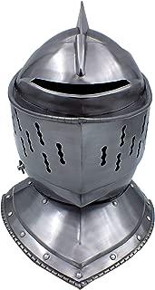 RED DEER Medeival Jousting Knight Helmet Original with Functioning Visor
