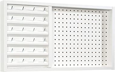 "Sauder Craft Pro Series Wall Mounted Pegboard with Thread Storage, L: 27.95"" x W: 2.52"" x H: 15.28"", White"