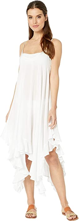 Rayon Handkerchief-Hem Dress Cover-Up