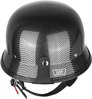 Iglobalbuy Half Helmet DOT Carbon Fiber German Style Motorcycle Cruiser Custom Airsoft Paitball Biker M/L/XL (L)