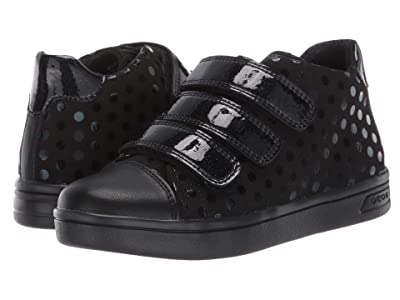 Geox Kids Jr Djrock 36 (Little Kid/Big Kid) (Black Oxford) Girls Shoes