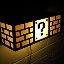 Super Mario Bros Lamp - Question Block - Wall mounted night light - Personalized gift
