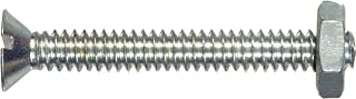 The Hillman Group The Hillman Group 1788 1/4-20 x 1 In. Flat Head Slotted Stove Bolts with Nuts - Zinc 20-Pack