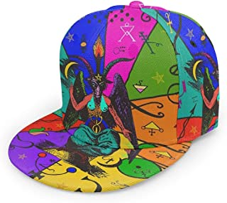 antkondnm Pop Art Baphomet Flat Brim Baseball Cap Snapback for Men Women Trucker Hat