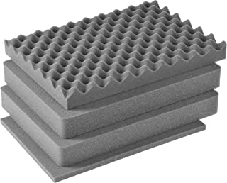 CVPKG Presents Pelican 1500 Solid Grey 4 Piece Replacement Foam Set - Includes 2 Middle Solid Pieces.