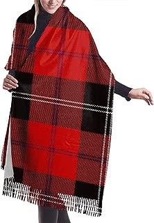 Scarf Womens Warm Winter Clan Ramsay Tartan Print Classic Tassels Blanket