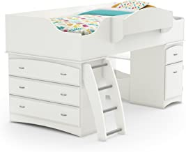 South Shore Imagine Collection Twin Loft Bed with Storage - Pure White