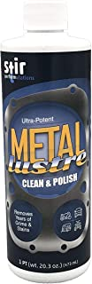 Commercial Grade Metal Cleaner and Polish restores Shine to Chrome, Stainless Steel, Aluminum, Brass, Magnesium, Nickel, and Cast Iron. Metal Lustre Removes Hard Water Stains, Rust, Grime,etc