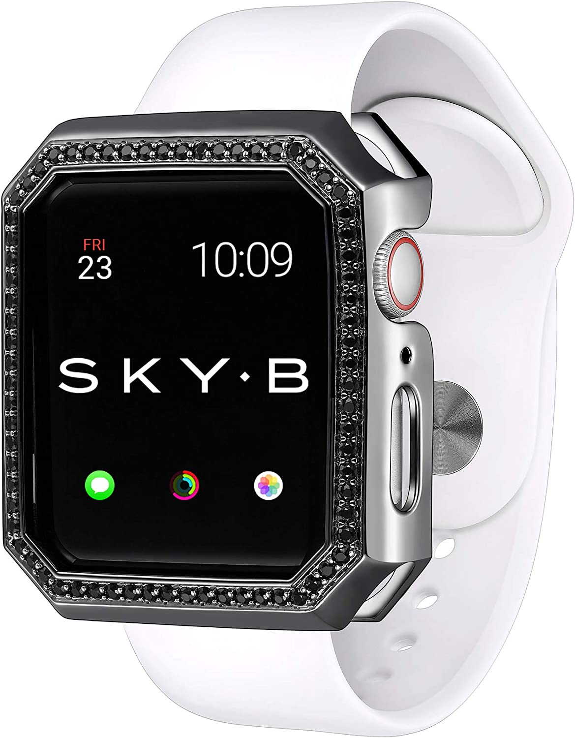 SKYB Deco Halo Black Protective Jewelry Watch Case Ser for Apple Ranking TOP10 Popular shop is the lowest price challenge