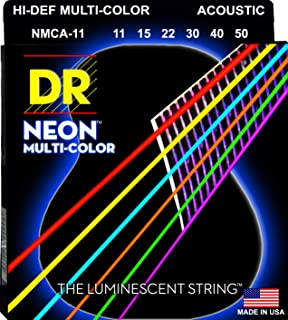 DRسترينغز HI-DEF نيون أوتار الغيتار الصوتية (NMCA-11)