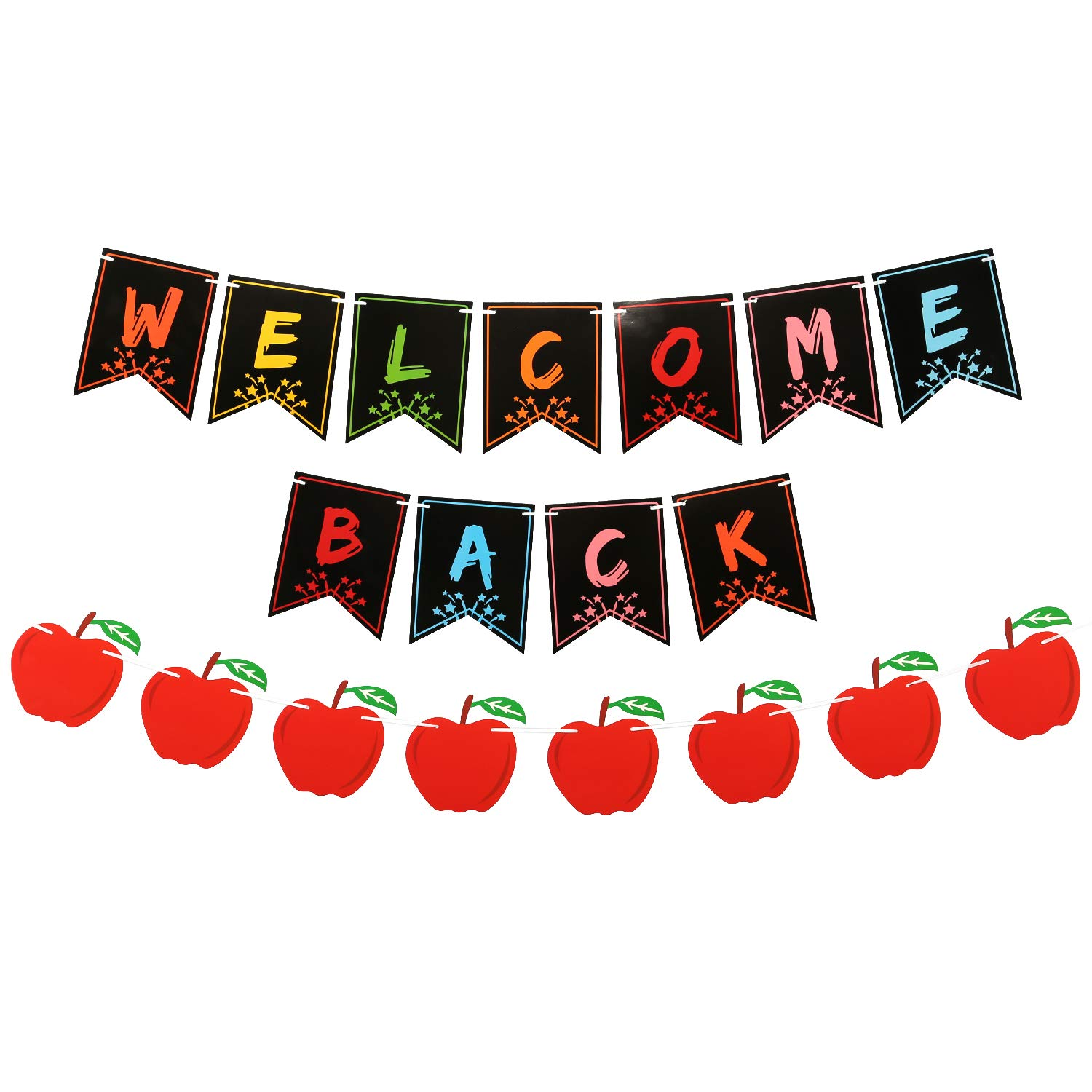 AIEX Welcome Back to School Banner Welcome Bulletin Board Banner Teacher Supplies for Classroom Decorations(Pre-Assembled)