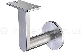 Inline Design Stainless Steel Handrail Wall Bracket Gamma Quasar (Mounting Surface: Wood or Sheet Rock)